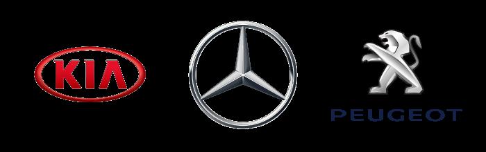 Kia, Mercedes-Benz og Peugeot